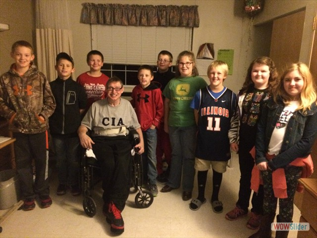 The 5th grade PSR class visited the Hardin Cila House to deliver Christmas gifts to the excited residents.